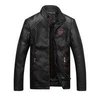 Men leather Suede jacket fashion Autumn motorcycle PU leather male winter bomber jackets coat Faux Leather Coat