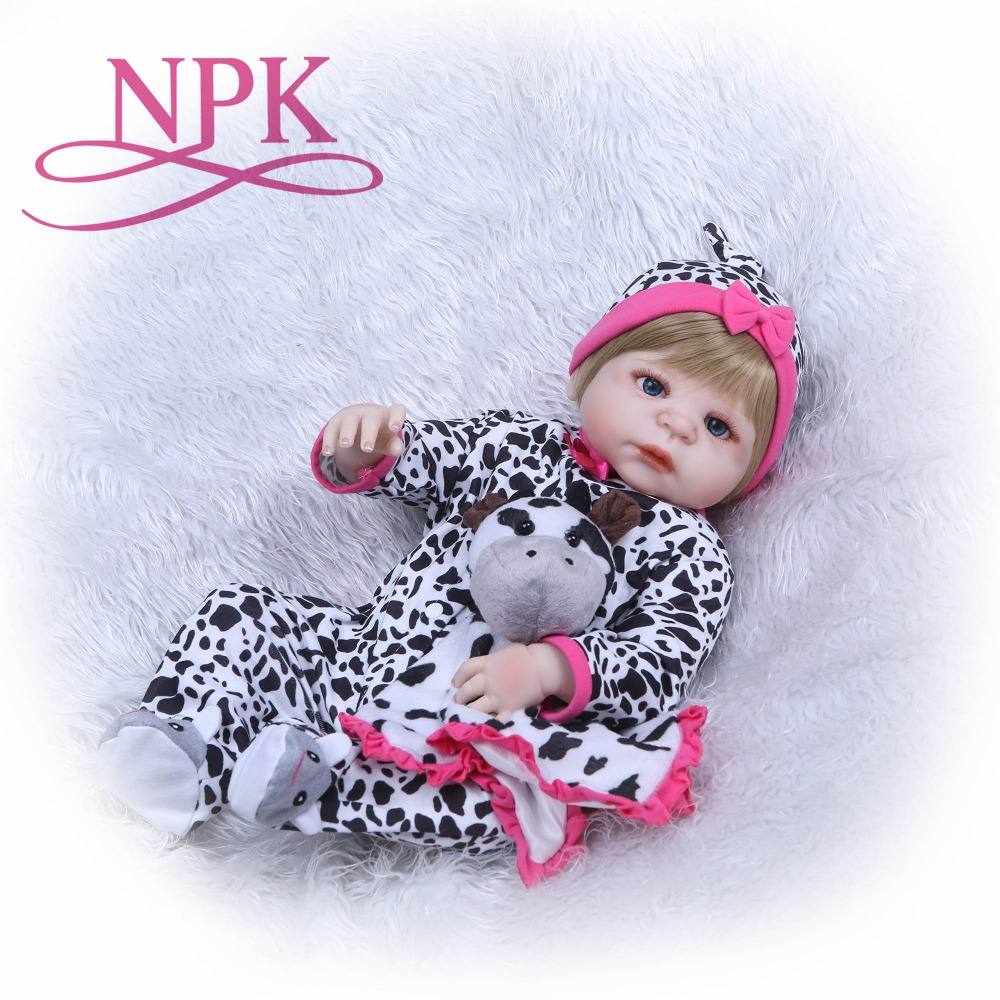 NPK 22 Fashion reborn girl doll newborn full body silicone vinyl bath doll toys bebe gift