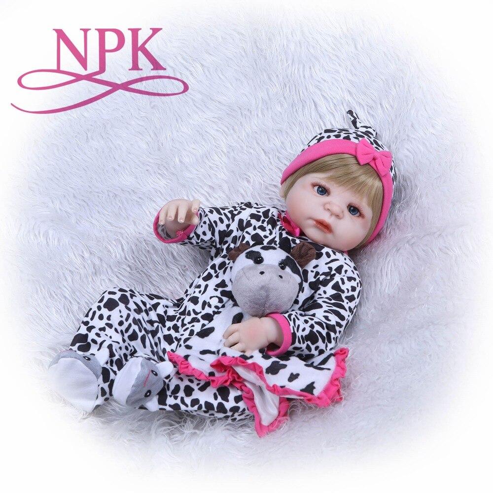 NPK 22 Fashion reborn girl doll newborn full body silicone vinyl bath doll toys bebe gift reborn realista for children