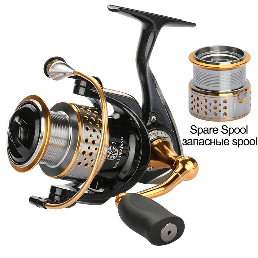 Tsurinoya Metal Fishing Reel Coil Sea Spinning Reels Deep and Shallow Spool 2000 Series 5.2:1 9BB Drag Power 6kg For Fishing