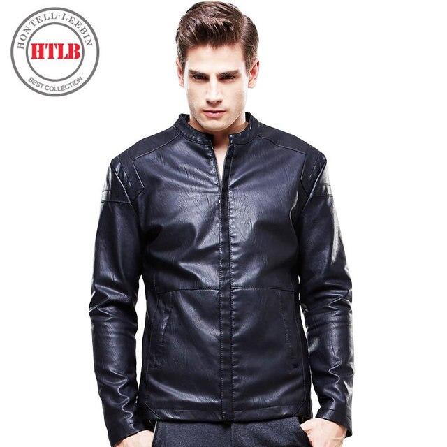 hot sales 65e89 3d285 US $35.65 49% di SCONTO|Htlb moto giacche in pelle da uomo primavera  inverno uomo abbigliamento in pelle maschile business casual cappotti brand  new ...