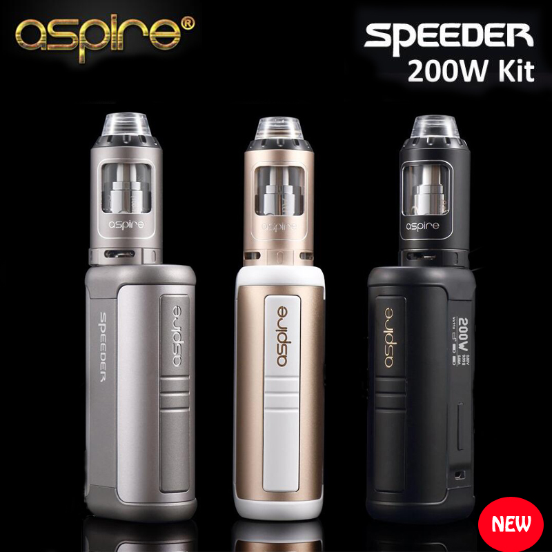 2017 Newest Original Aspire Speeder 200W Kit With Speeder Mod & 4ML Athos Tank fit 18650 Battery Aspire Speeder 200 E Cigarettes original 218w smoant charon vv box mod e cig vape powered by dual 18650 battery fit 510 thread atomizer tank vs g priv mod