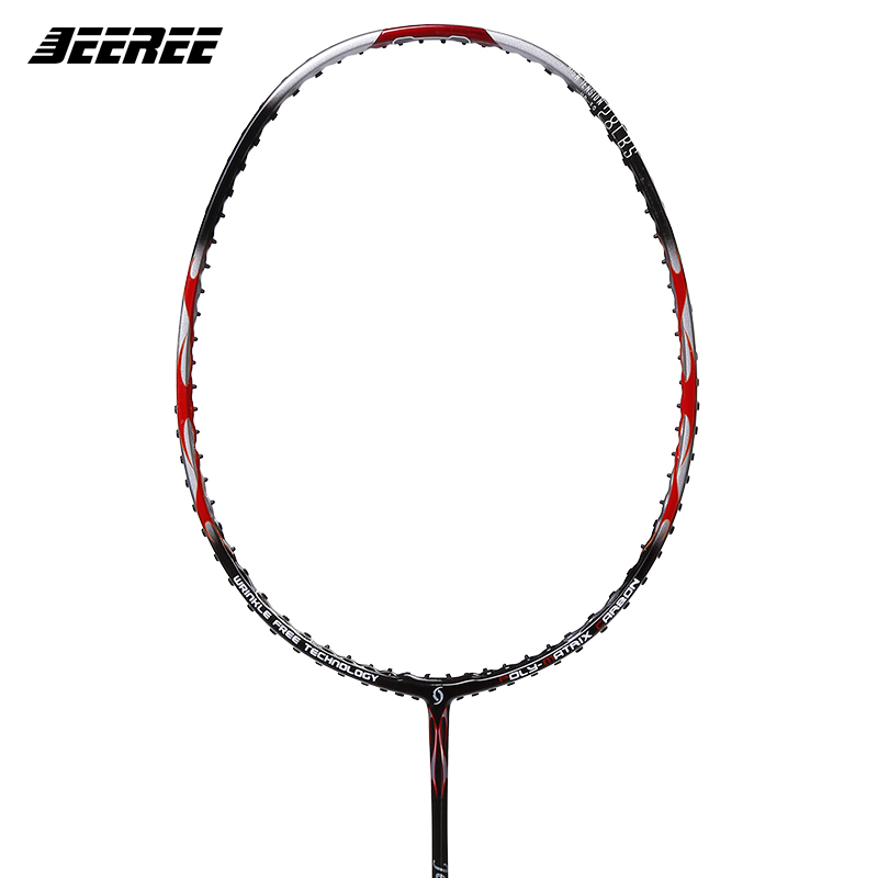 Jeeree 2017 new plays the JR D-1 full carbon attack on the carbon fiber The Highest 24 Pounds Badminton Racquets With Free Gift