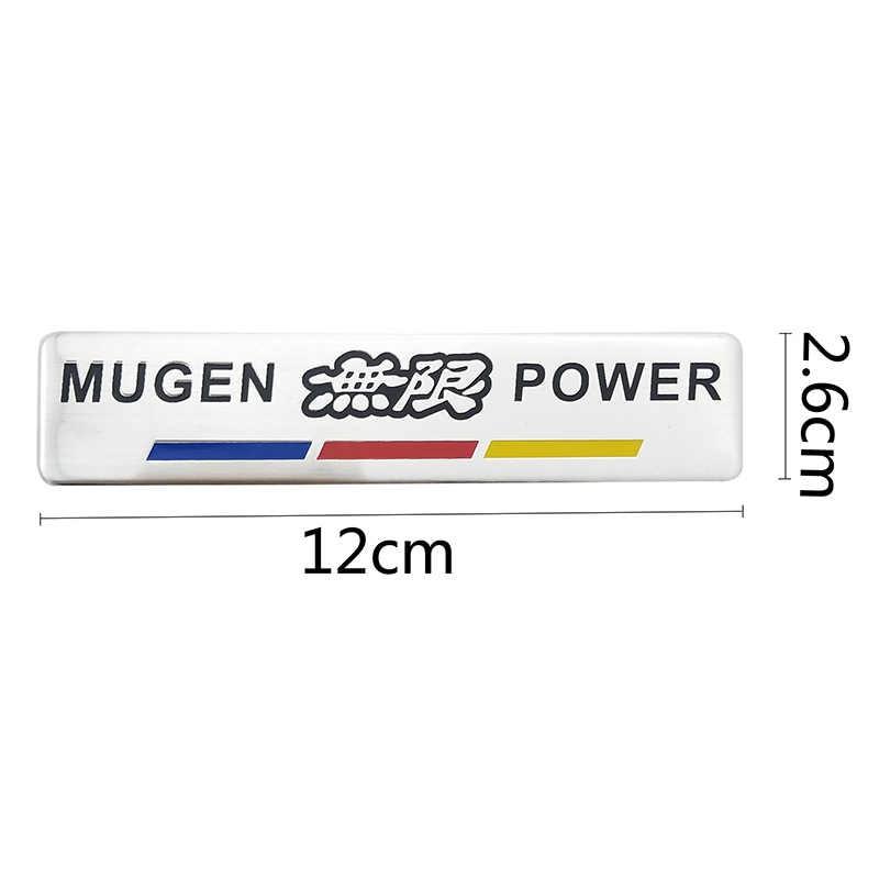Carro de alumínio vermelho mugen power carro auto adesivo emblema cromo logotipo traseiro emblema para honda civic accord s2000 CR-V carro-estilo cobre