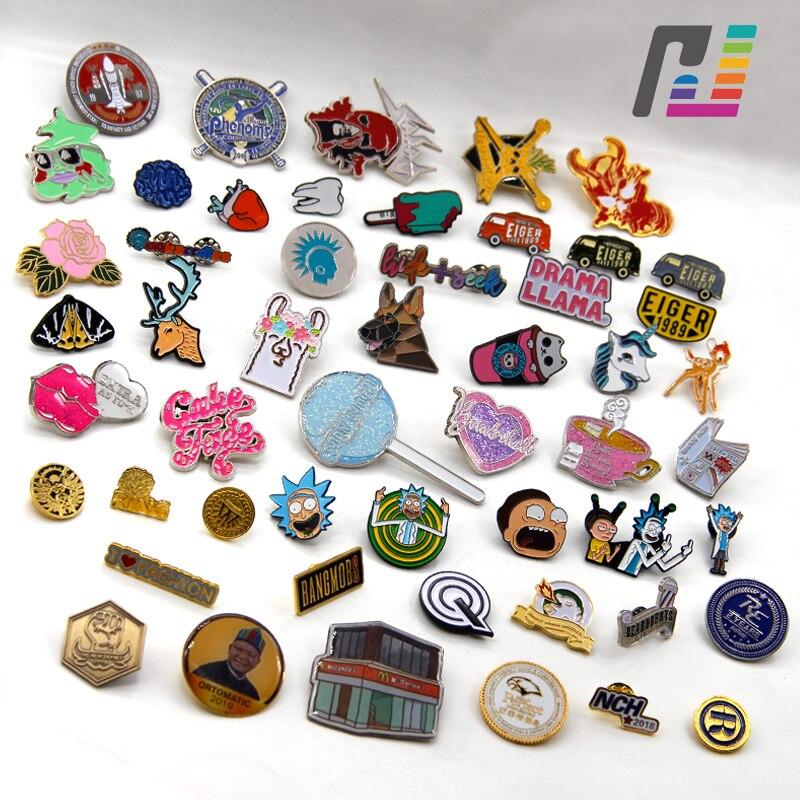 Lot Custom Enamel Custom Pins Logo Custom Pin Badge Pin Buttons Brooch Metal Lapel Pin for Company Retail Stores Individual