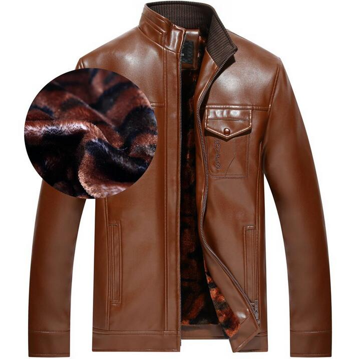 Spring autumn thin leather coats mens motorcycle leather jacket men jaqueta de couro masculino stand collar black brown S 3XL in Faux Leather Coats from Men 39 s Clothing
