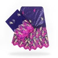 High Quality Purple bazin Getzner Fabric Nigeria Damask Shadda Beaded Guinea Brocade Fabric bazin Lace 40