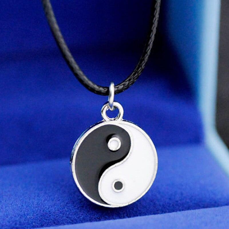 Legal menino taoist tai chi yin e yang encantos pingente colar chj08