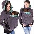 Venda quente Multifunction Maternidade Quente Mulheres Moletom Com Capuz Inverno Quente Hoodies Mãe Com Mochila Portador de Bebê Canguru Moletom