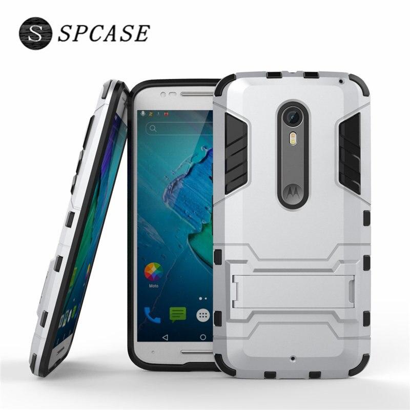 Spcase Роскошные противоударный чехол для телефона для Motorola <font><b>Moto</b></font> <font><b>X</b></font> Force G5 плюс G4 плюс G6 плюс тяжелых Защитник Стенд держатель обратно Капа