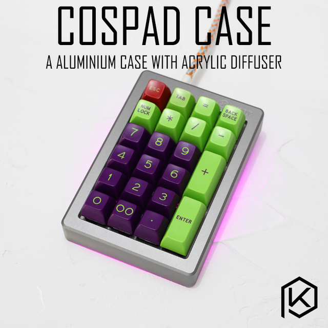 Anodized Aluminium case for cospad xd24 custom keyboard acrylic panels diffuser can support Rotary brace supporter