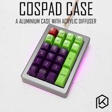 Caso de alumínio anodizado para cospad xd24 personalizado teclado acrílico painéis difusor pode apoiar suporte cinta giratória