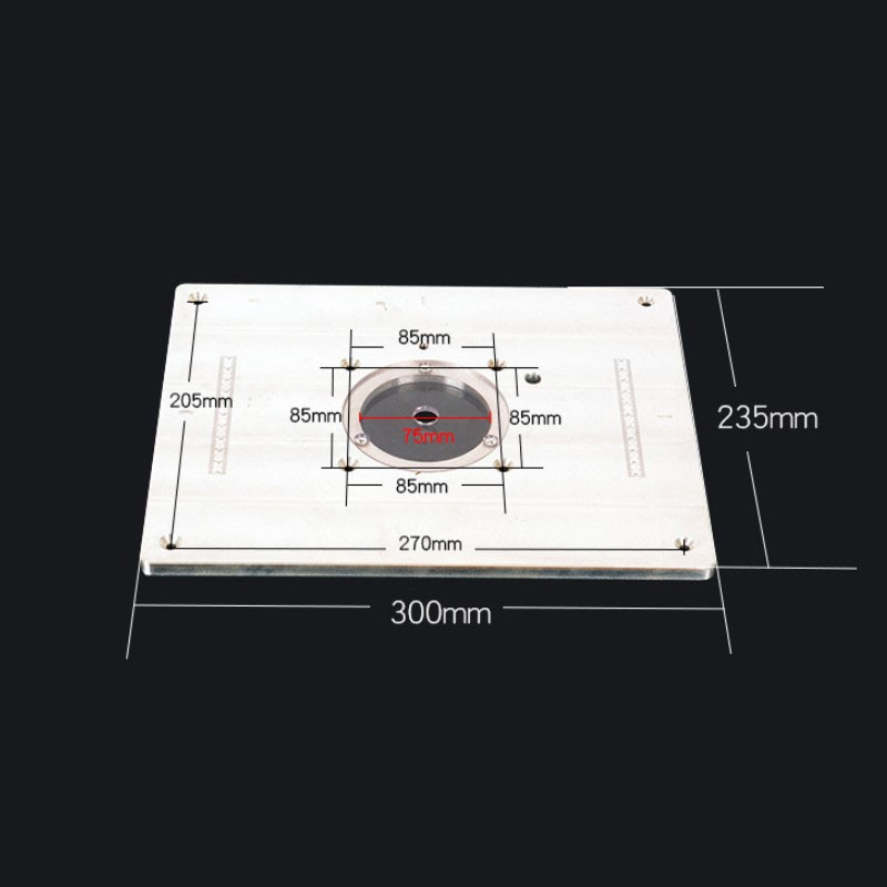 trimming machine Flip Plate engraving machine electric wood milling guide table chamfering board Woodworking Work Bench