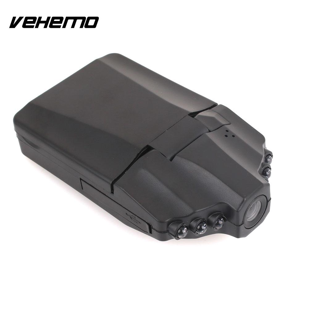 VEHEMO 2.5inch HD1080P Night Vision Auto On/Off Dash Cam Driving Recorder Motion Detection Car DVR Vehicle Parking Monitor