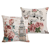 2pcs Lot Fashion American Life Style Cotton Embroidered Sofa Cushion Covers Set Pillow Cases Home Decor