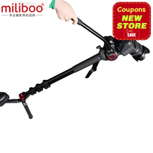 miliboo MTT705A Aluminum Alloy Portable Monopod &Tripod For Professional Camcorder /Video/DSLR Stand.Half Price of Manfrotto miliboo mtt705a professional aluminum portable camera tripod without hydraulic head monopod dslr stand free shipping