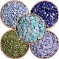 2017 Nueva Marca de Llegada Naturaleza Lapis Piedra Grava Aquamarin Alivine y amazonita 5 tipo de piedra para su cosecha para DIY makeupp