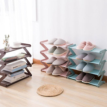 Z Shape Stainless Steel Shoe Rack Shoe Tower Organizer Cabinet Entryway Stackable Storage Shelf Multi-layer Shoe Storage Rack z type test tube rack for 12 13mm tubes holds 50 z shape