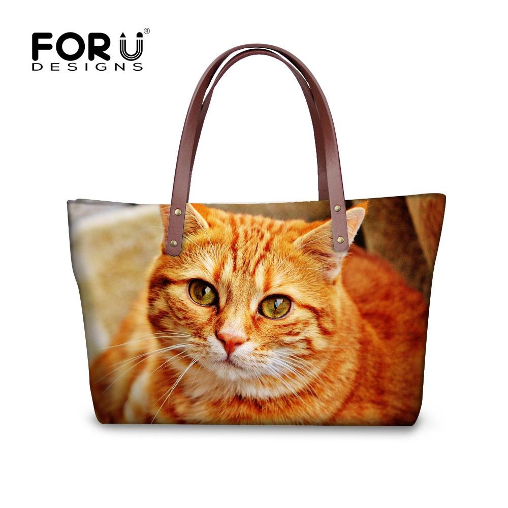 ФОТО 2017 Leisure Ladies Handbags Cute Cat Women Messenger Bags Luxury Large Tote Shoulder Bag  Shopping Satchel Bolsas Femininas