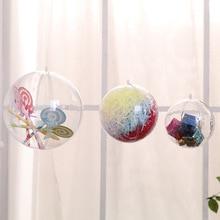 482adca1c0847 Decoración de Navidad bola transparente puede abrir plástico ornamento  presente caja 3 cm 4 cm 5 CM 6 cm 7 cm 8 cm 10 cm 12 cm 1.