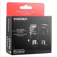 Yongnuo YN 622C, YN 622C sans fil ETTL HSS 1/8000S Flash déclencheur 2 émetteurs récepteurs pour Canon 1100D 1000D 650D 600D 550D 7D 5DII 50D