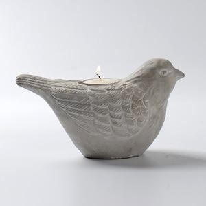 Image 4 - Silicone Concrete Mold 3D Bird Shape Candlestick Molds DIY Succulent Plants Making Mould Home Desk Decorating Tool