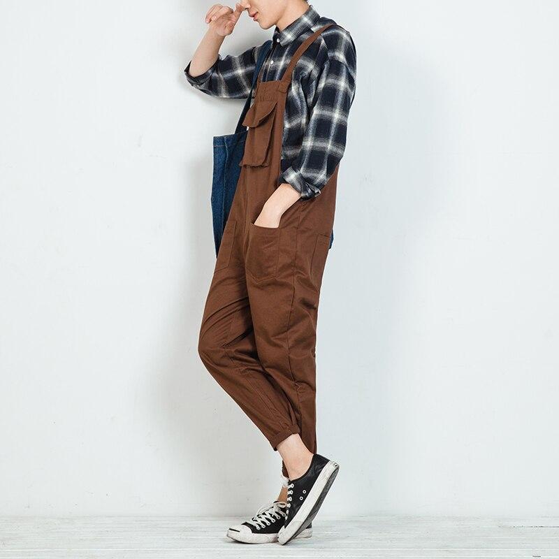 2017 Mens Casual Cotton Slim Harem Pants Trousers Hip Hop Overalls Compression Tights Black Jumpsuit Fashion Rompers pants M-XL