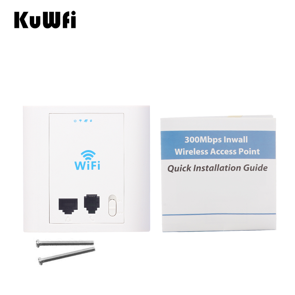 300Mbps In Wall WIFI Access Point Wireless Router With PoE RJ45&RJ11 Port Access Control System Work As AP Router WIFI Repeater