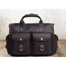 XI YUAN BRAND Retro crazy horse skin men's first layer of leather shoulder bag Messenger bag men's leather cross-body bag man