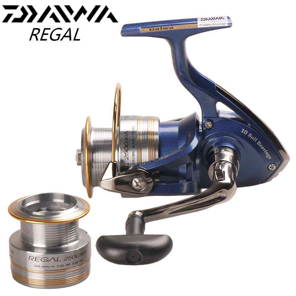 DAIWA REGAL Spinning Fishing Reel with Spare Spool 2000XIA 2500XIA 3000XIA 4000XIA Carretes Pesca Spinning Wheel