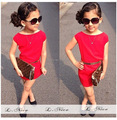 Retail Newest 2015 Fashion Baby girl summer dress Kids dress with sashes children Costume saias femininas Free shipping B0081