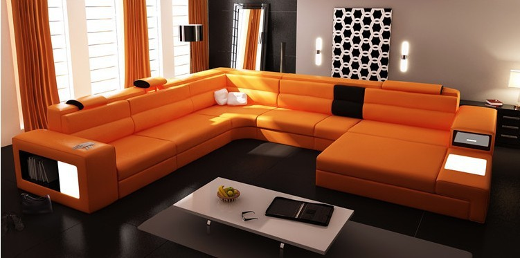 Modern Furniture Sofa Set Leather Sectional Sofa Home Furniture Living Room  Set White Color Sofa In Living Room Sofas From Furniture On Aliexpress.com  ... Part 43