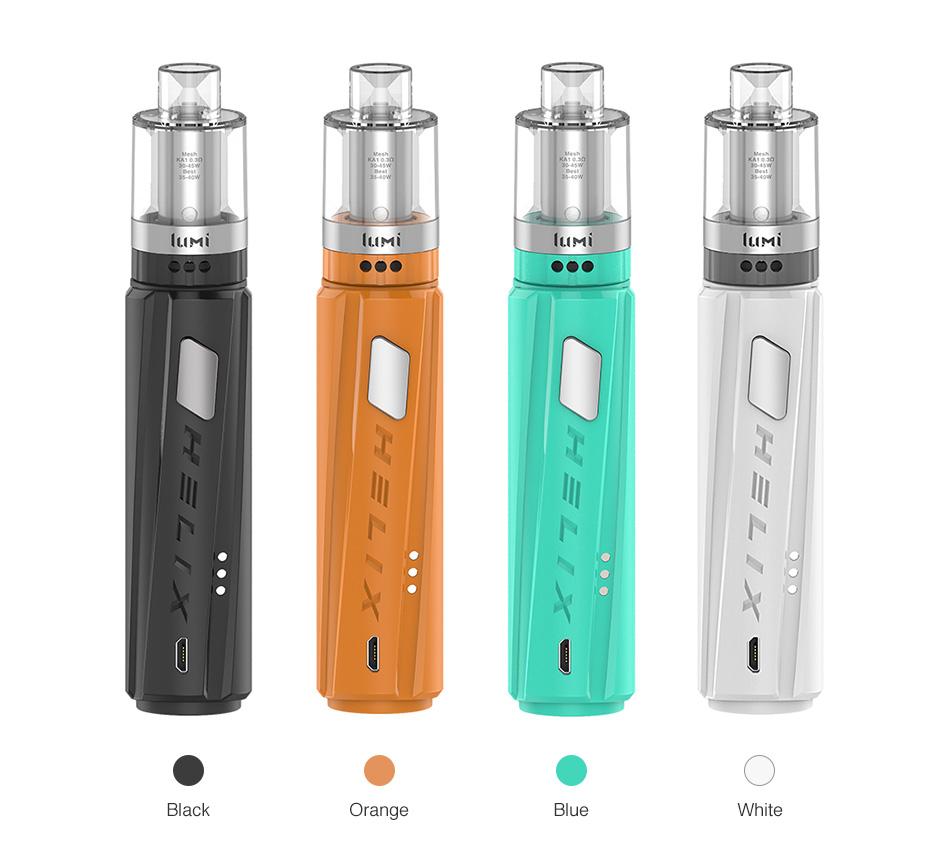 , 2pcs!!! New Vape pen Kit Digiflavor Helix starter kit with 2ML/4ML lumi tank by single 18650 Electronic cigarette Vaporizer Kit