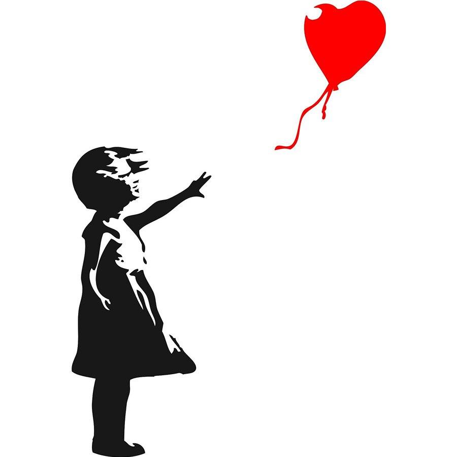 Online Kaufen Gro 223 Handel Banksy M 228 Dchen Rot Ballon Aus
