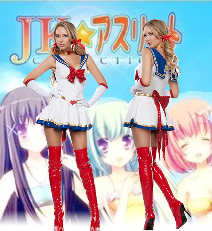 2017 New Arrival Ladies Sexy White Sailor Moon Costume -1882