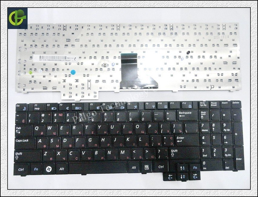 Free Shipping Russian Keyboard for Samsung R618 R538 P580 P530 RU Black keyboard