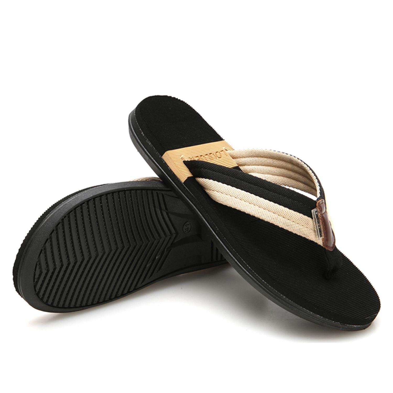 Verano De Zapatos Los Hombre Hombres Black Casuales Homme Flip Negro Playa Zapatillas Sandalias Chausson Flops 4q1URwY1