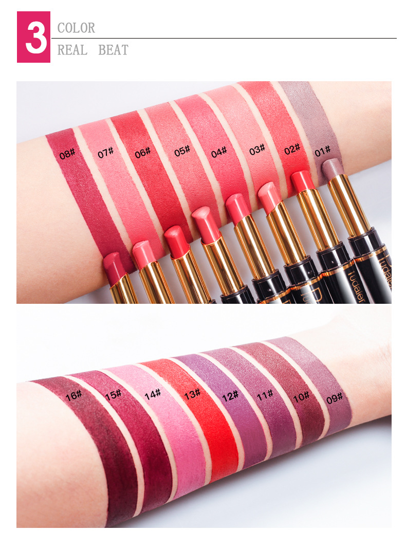 New PUDAIER Brand 16 Color Double Ended Nude Lasting Waterproof Lip Liner And Matte Lipstick Nude Dark Red Lips Liner Pencils (8)