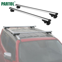 Partol Universal 120CM Car Roof Racks Cross Bars Crossbars 68kg 150LBS For Car With Side Rails