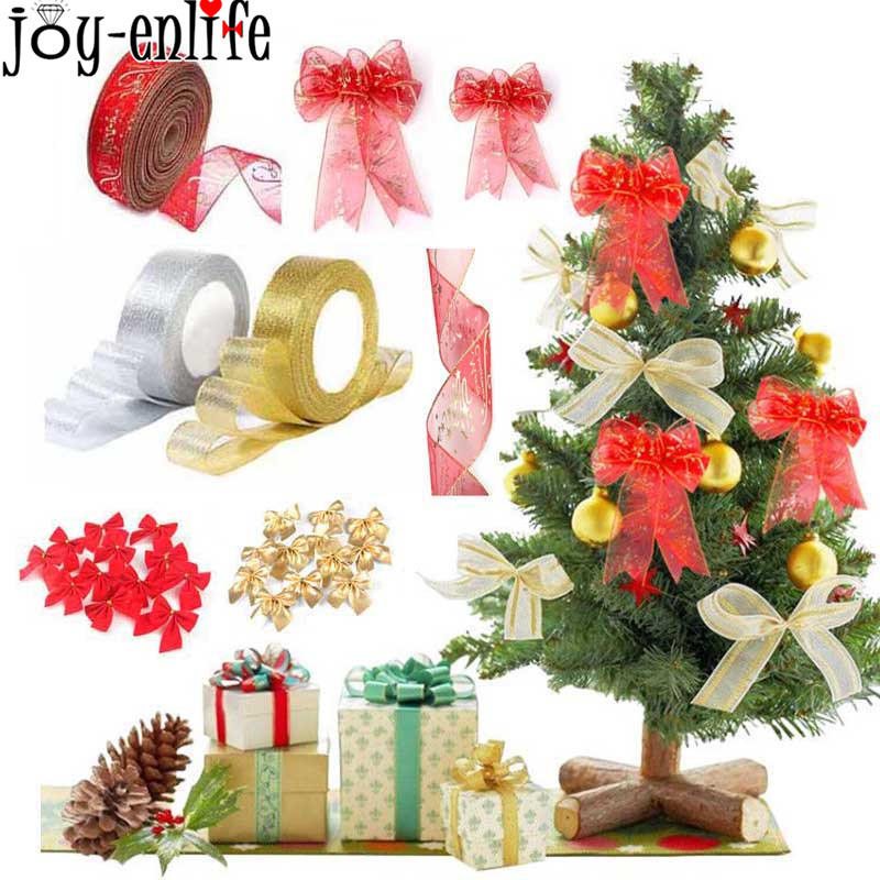 Christmas Tree Decorations For 2019: Christmas Ribbon 2019 New Year Gift Box Christmas Tree