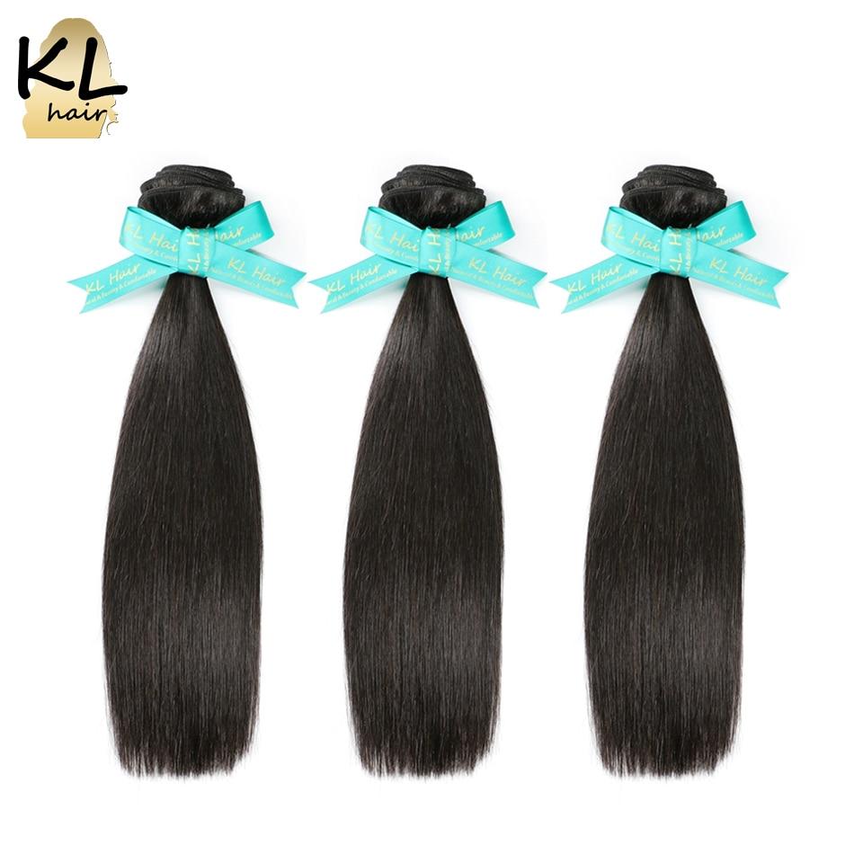 KL Brazilian Straight Hair 3 Bundles Deal 100 Human Hair Extensions Remy Hair Weave Natural Black