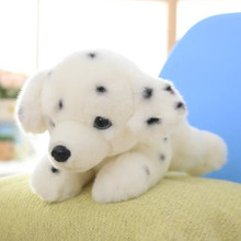 cute spotted dog about 35 cm Dalmatian dog plush toy birthday gift x139