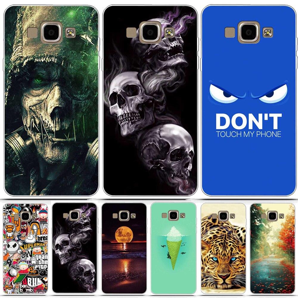 Phone Cases For Samsung Galaxy A5 2015 A500 Case Coque Silicon 3D Skull Back Cover For Funda Samsung Galaxy A5 A5000 Case Capa