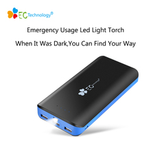 EC Technology Mobile Phone Power Bank 20000mah Bateria Externa Pover Bank 18650 Power Bank Powerbank 3 USB Portable Charger