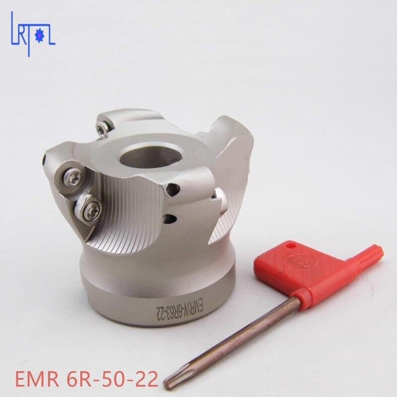 4 flutes EMR 6R-50-22 Mill Visage Fin de Carbure Alliage pour Lourd CNC Fraisage De Coupe 4 5hp fin