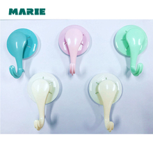 5 pcs Of Plastic Bathroom Wall Hanger Family Robe ABS+TPR+PC Hooks Kitchen Hook lson abs large pcb test hook clips yellow 5 pcs