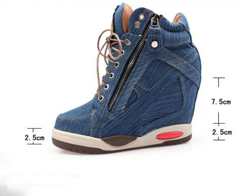 HTB1.qerGL9TBuNjy0Fcq6zeiFXa9 KNCOKA Summer New Women's Comfortable Wedge Heels With Stylish And Simple Denim Canvas Single Shoes