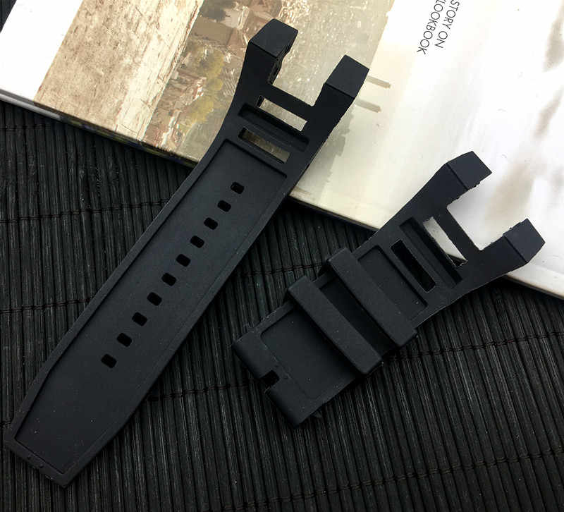Luxury men Rubber Black silicone watchband Band for Invicta strap Subaqua Noma IV Noma 4, 32mm lugs Smart Watch belt no tool