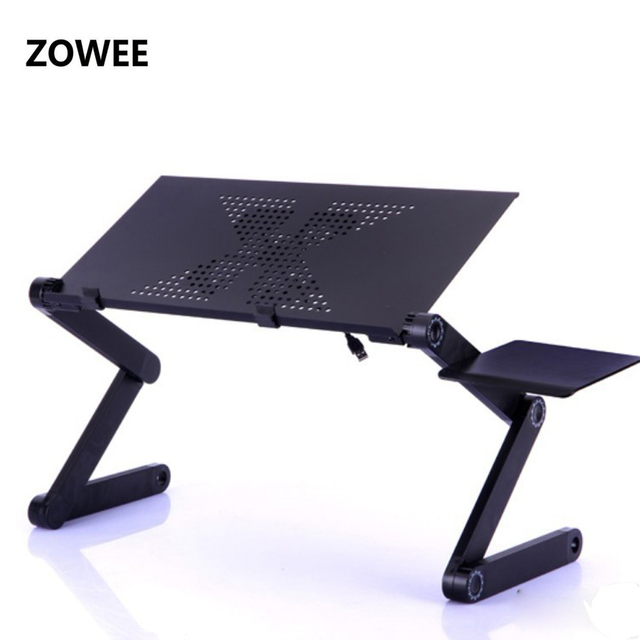 Adjustable Portable Laptop Table Stand Lap Sofa Bed Tray Computer Notebook Desk Bed Table With Mouse Board Zw Cd05