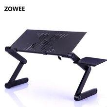 Ajustável portátil portátil suporte de mesa do portátil colo sofá cama bandeja computador notebook mesa cama mesa com placa do mouse ZW CD05